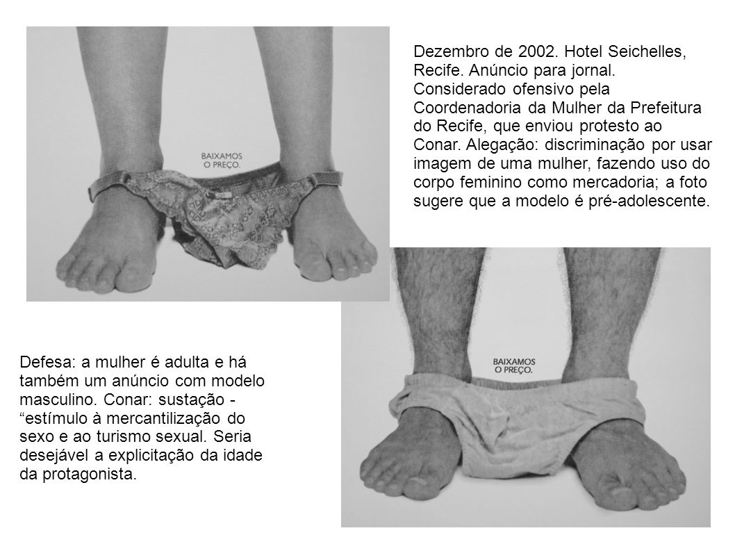 Dezembro de 2002. Hotel Seichelles, Recife. Anúncio para jornal