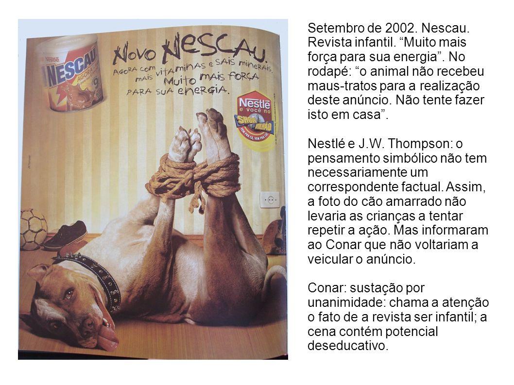 Setembro de 2002. Nescau. Revista infantil
