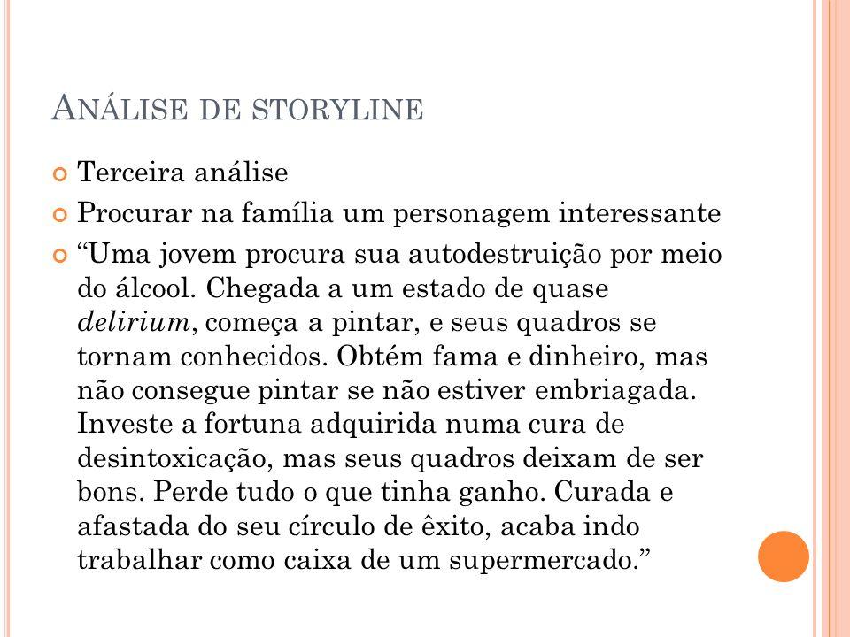 Análise de storyline Terceira análise
