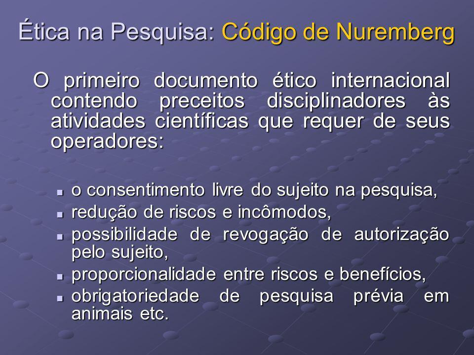 Ética na Pesquisa: Código de Nuremberg