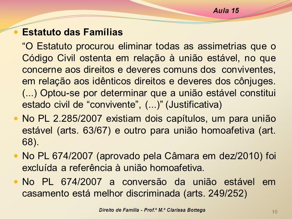 Aula 15 Estatuto das Famílias.
