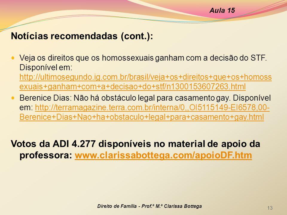 Notícias recomendadas (cont.):