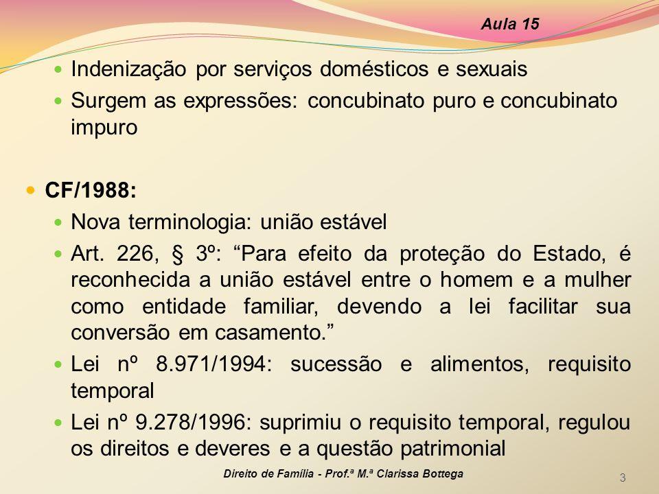 Indenização por serviços domésticos e sexuais