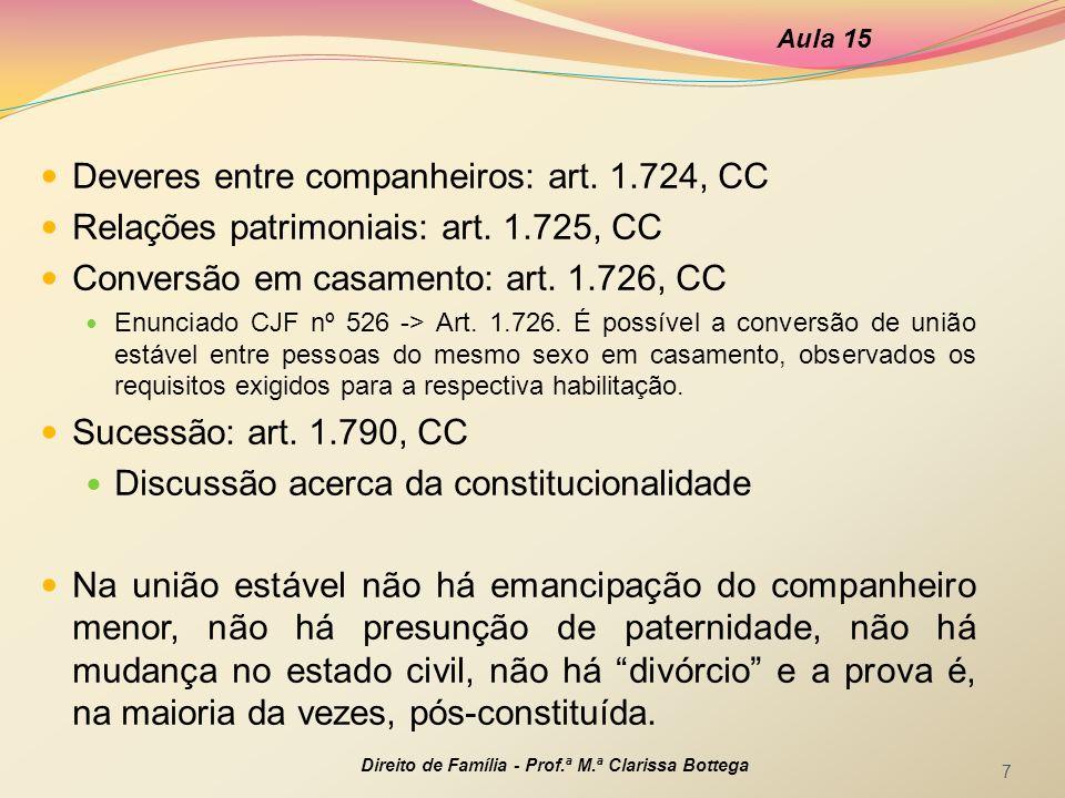 Deveres entre companheiros: art. 1.724, CC