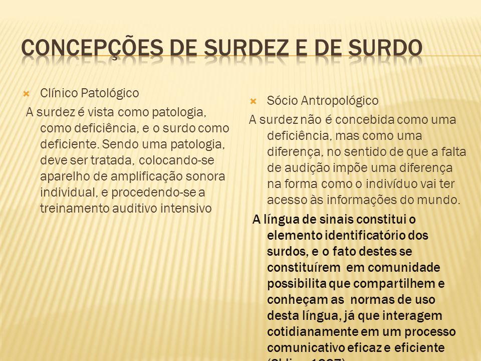 CONCEPÇÕES DE SURDEZ E DE SURDO