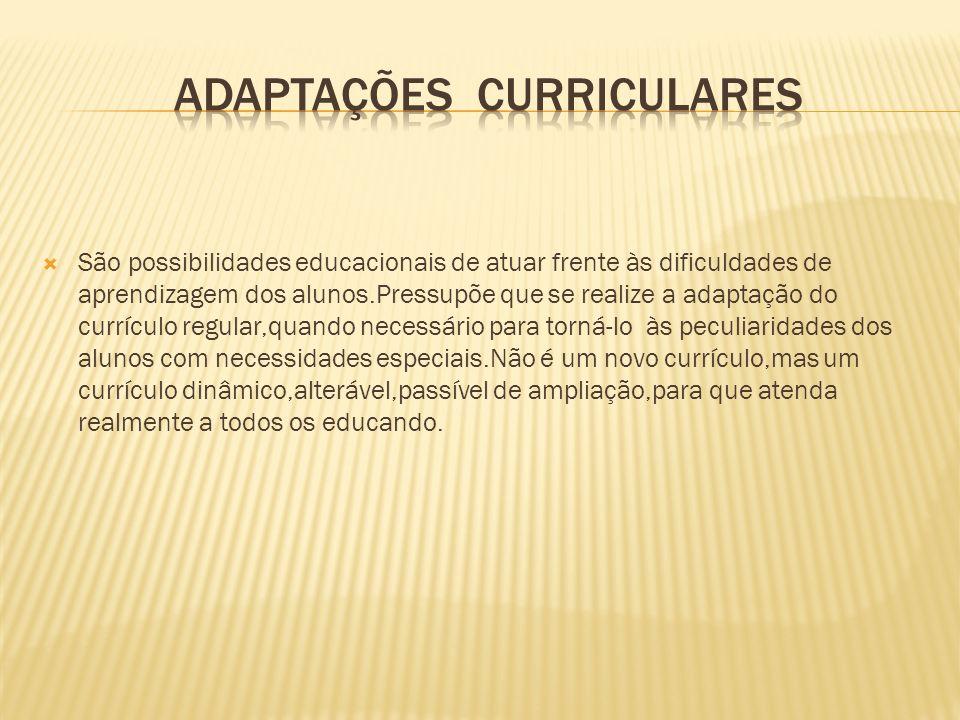 AdaptaçÕES CurricularES