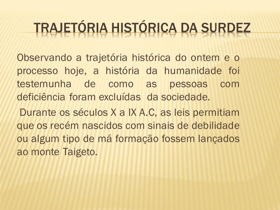 TRAJETÓRIA HISTÓRICA DA SURDEZ