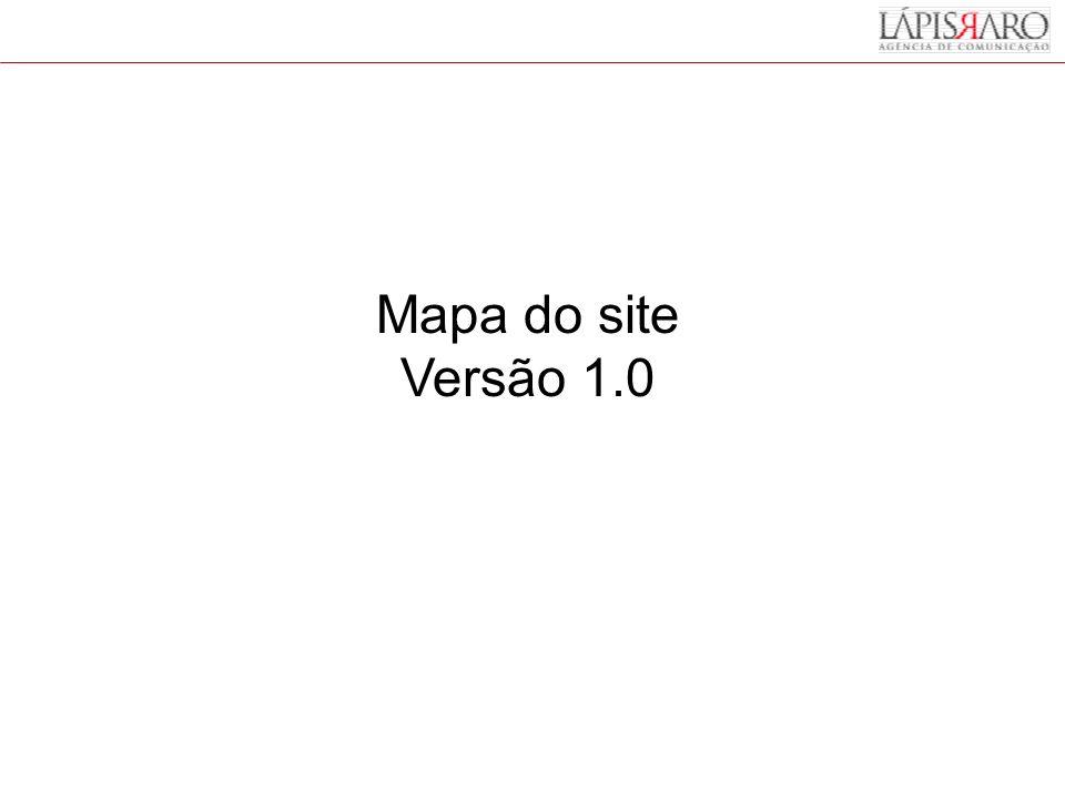Mapa do site Versão 1.0