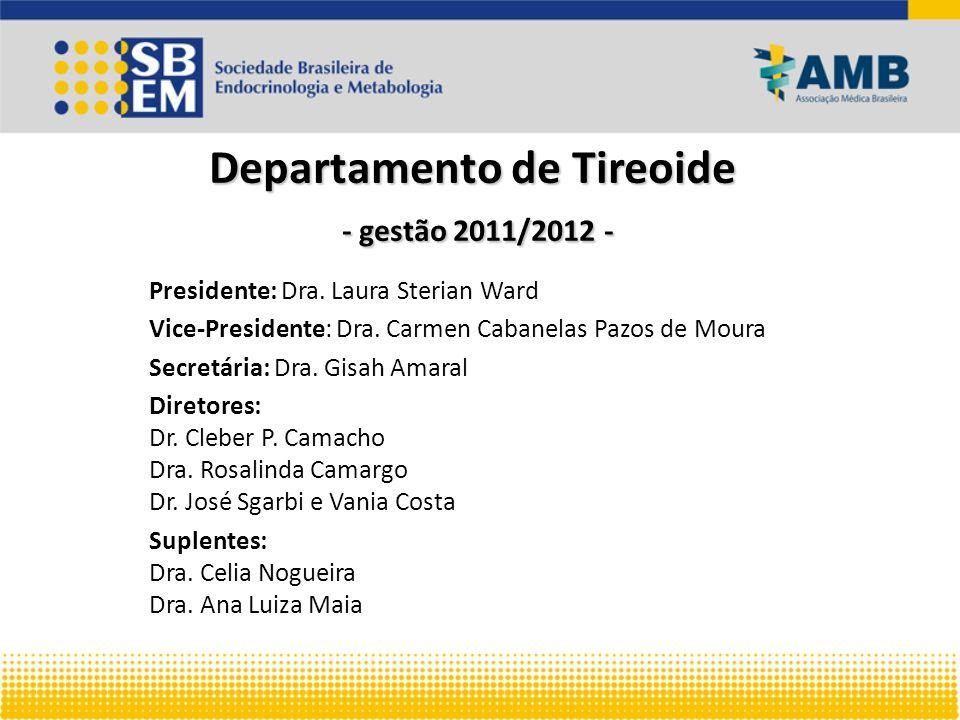 Departamento de Tireoide - gestão 2011/2012 -