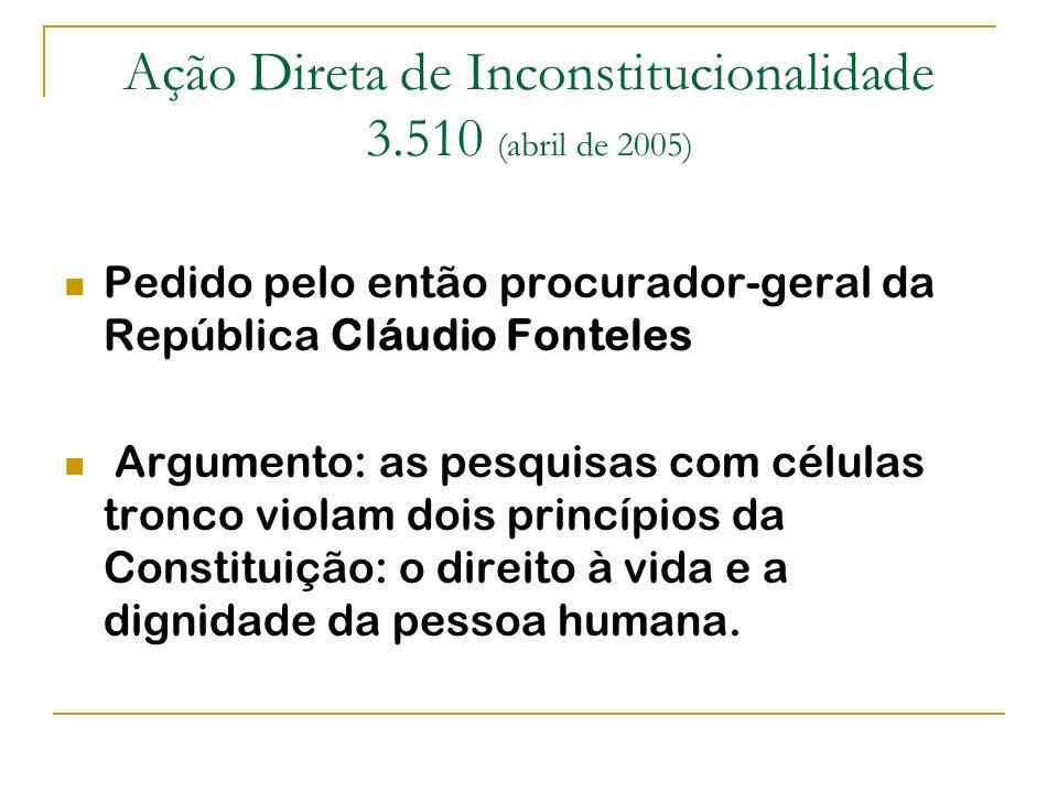 Ação Direta de Inconstitucionalidade 3.510 (abril de 2005)