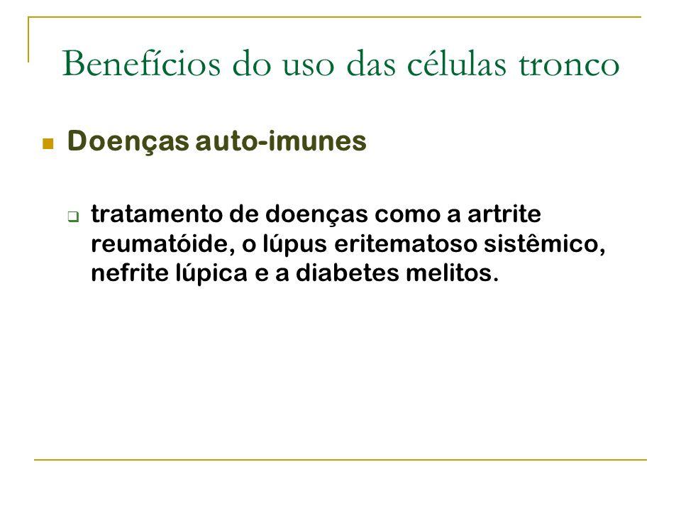 Benefícios do uso das células tronco