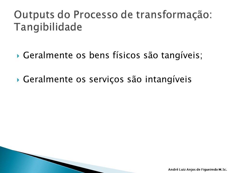 Outputs do Processo de transformação: Tangibilidade