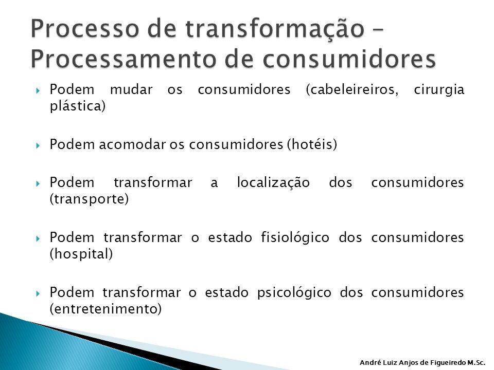 Processo de transformação – Processamento de consumidores