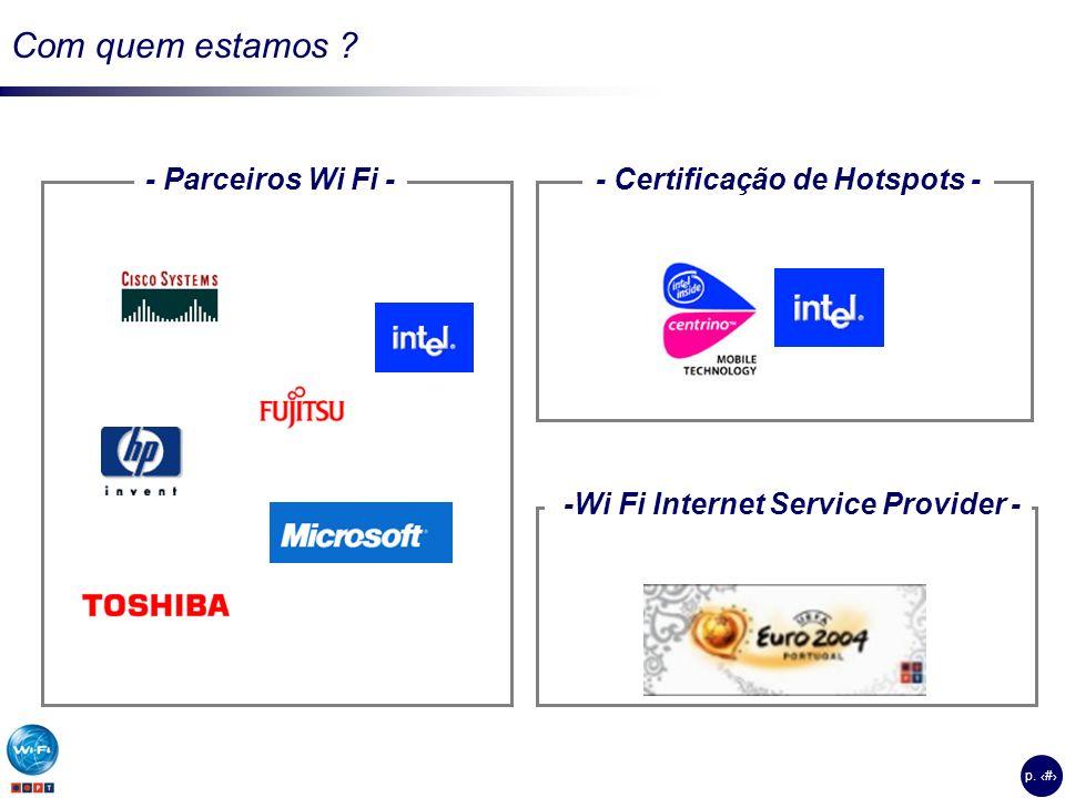 - Certificação de Hotspots - -Wi Fi Internet Service Provider -