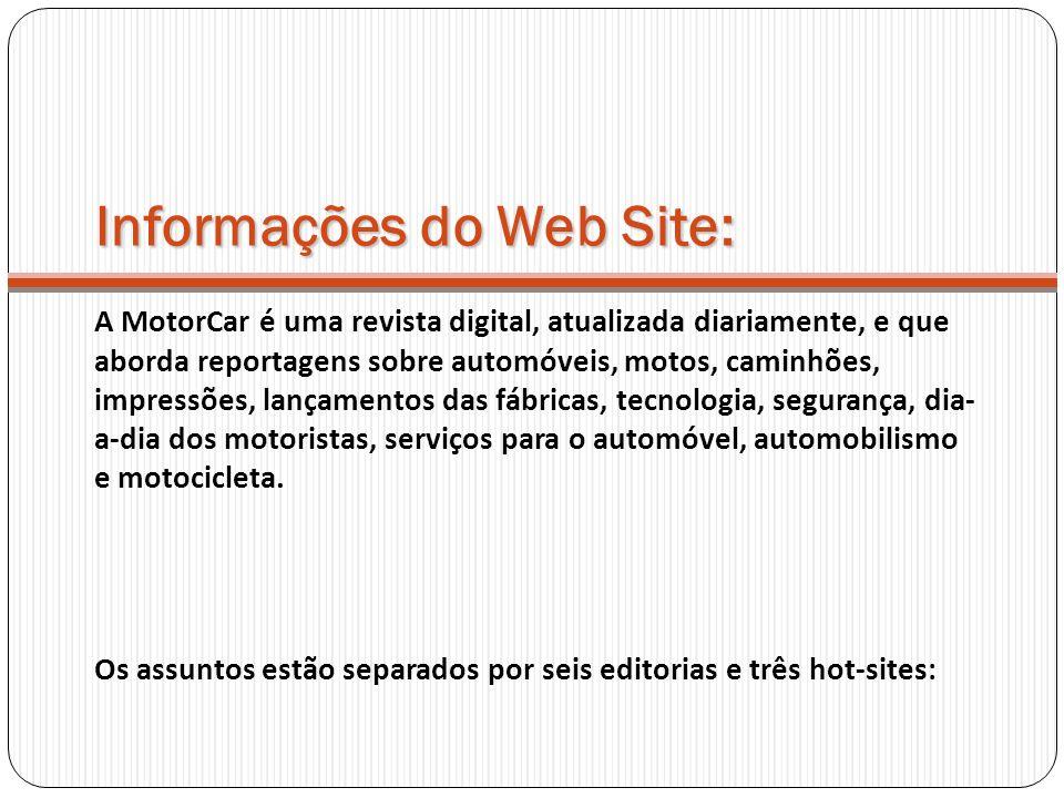 Informações do Web Site: