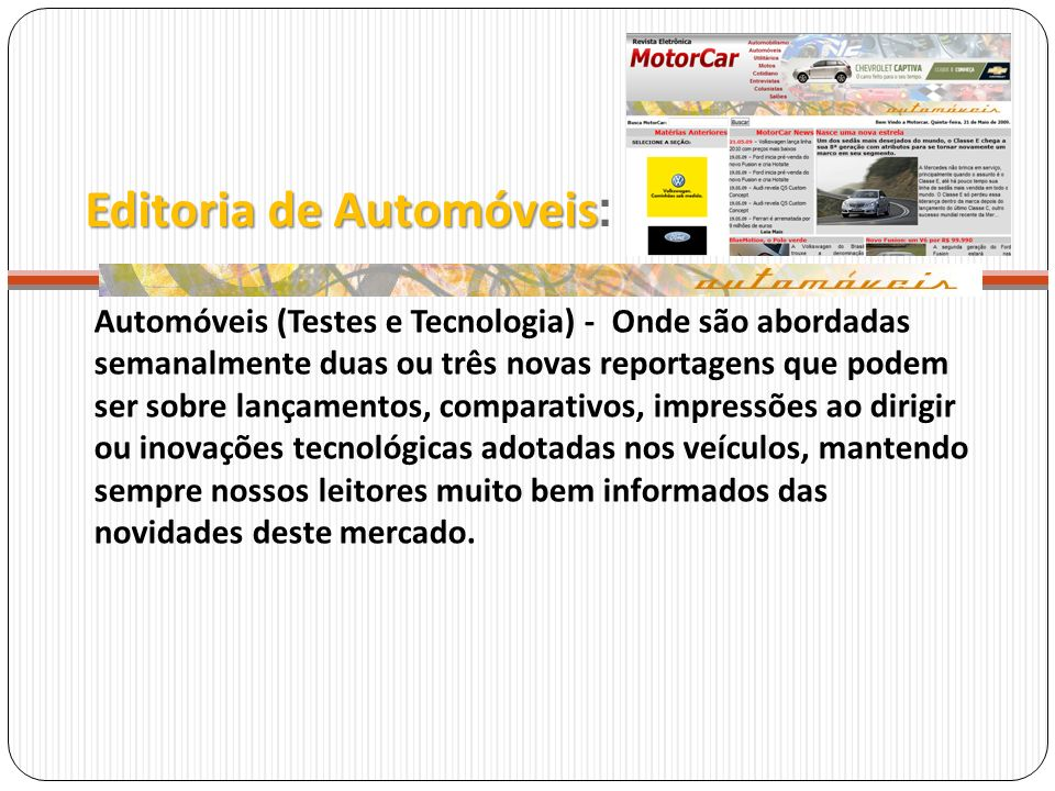 Editoria de Automóveis: