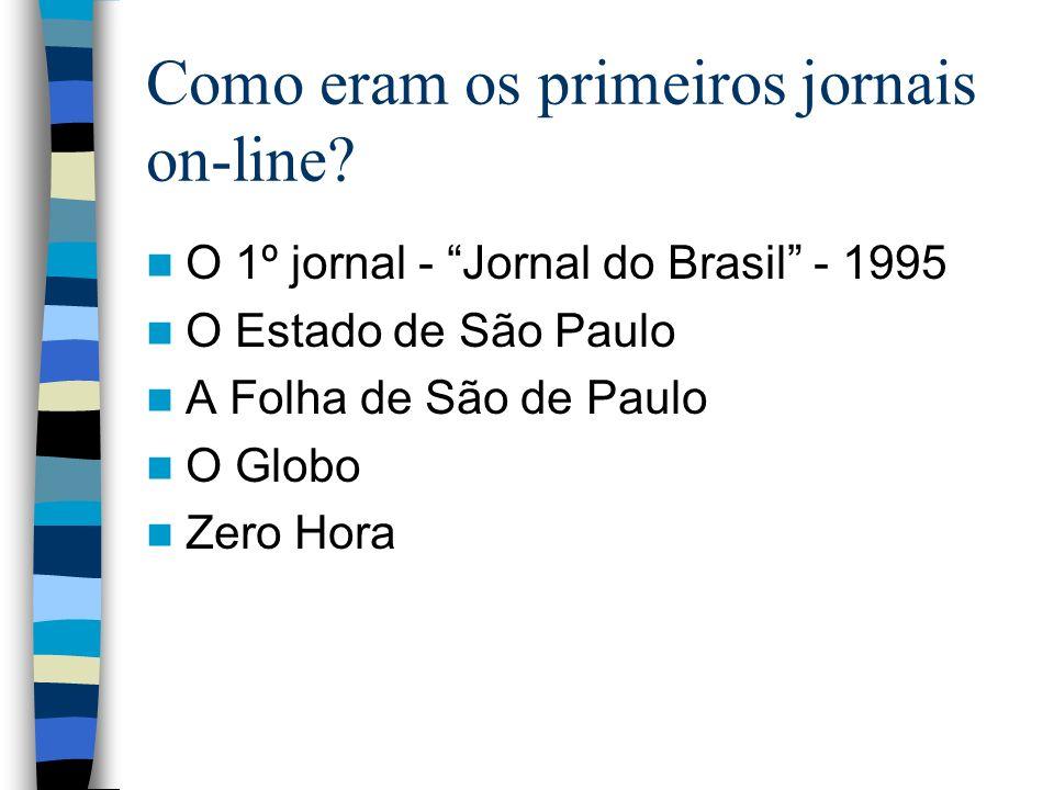 Como eram os primeiros jornais on-line