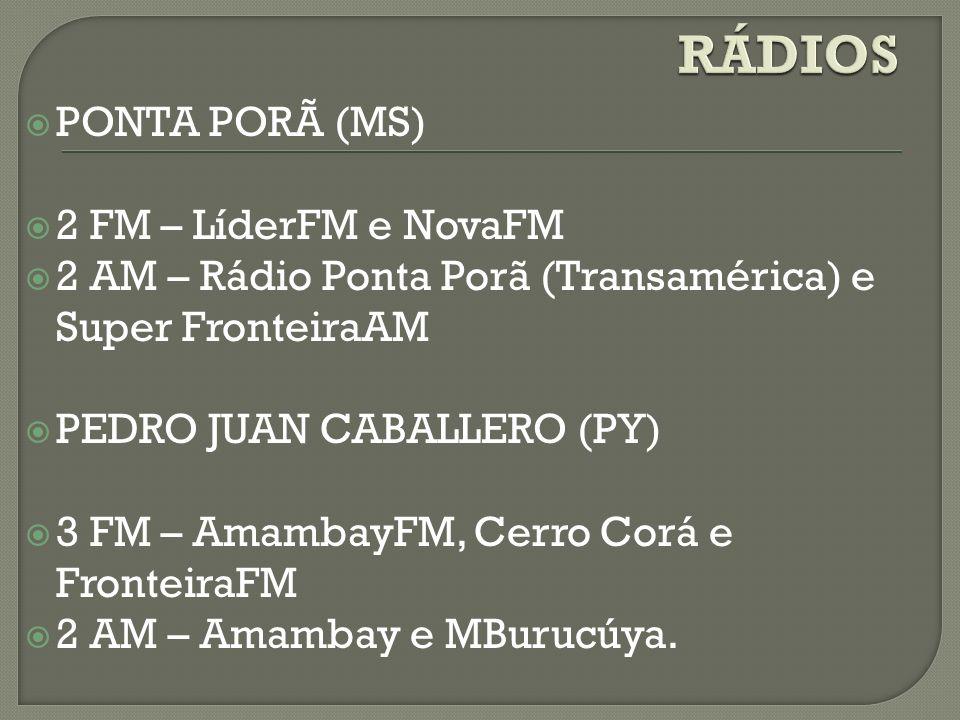 RÁDIOS PONTA PORÃ (MS) 2 FM – LíderFM e NovaFM