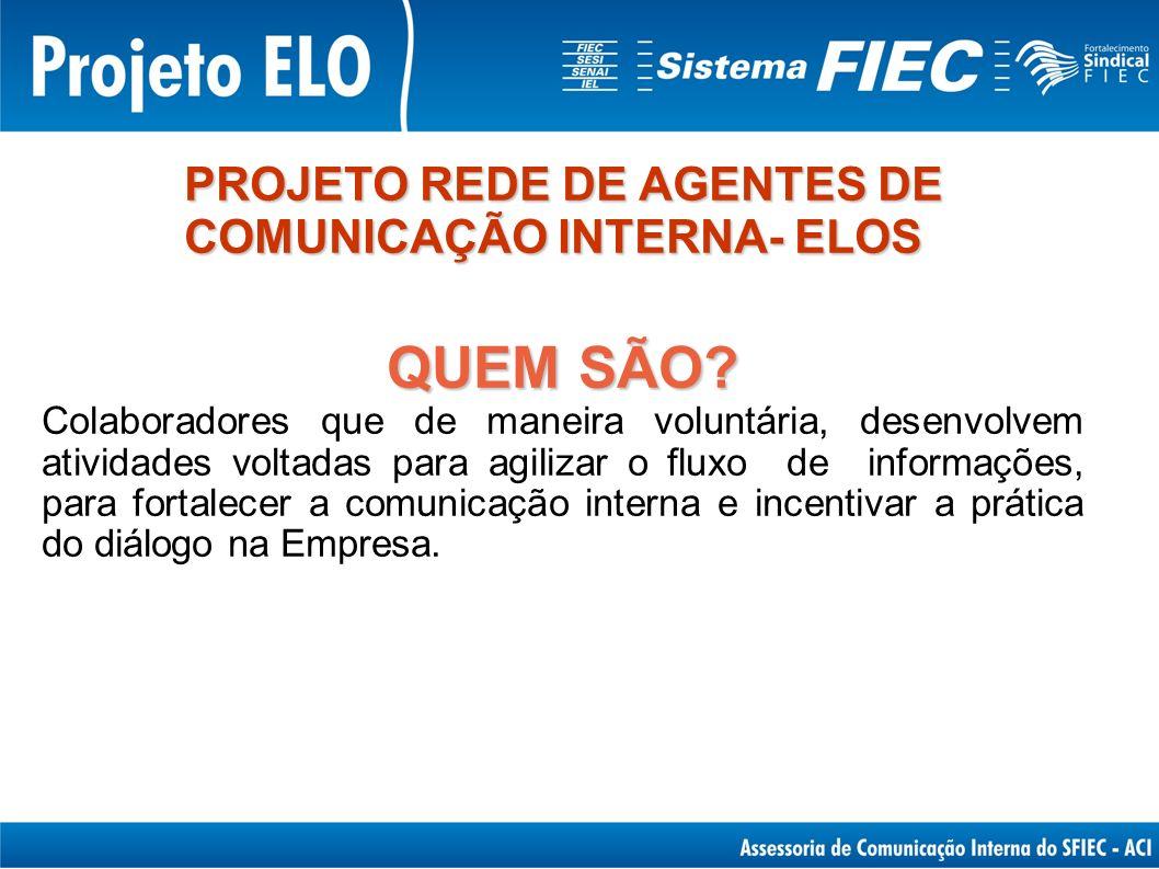 QUEM SÃO PROJETO REDE DE AGENTES DE COMUNICAÇÃO INTERNA- ELOS