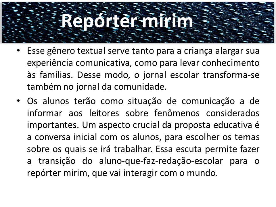 Repórter mirim