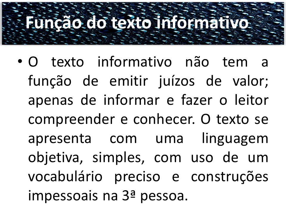Função do texto informativo