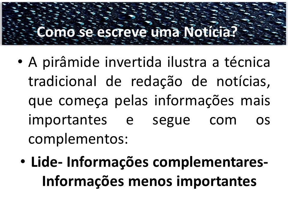 Lide- Informações complementares- Informações menos importantes