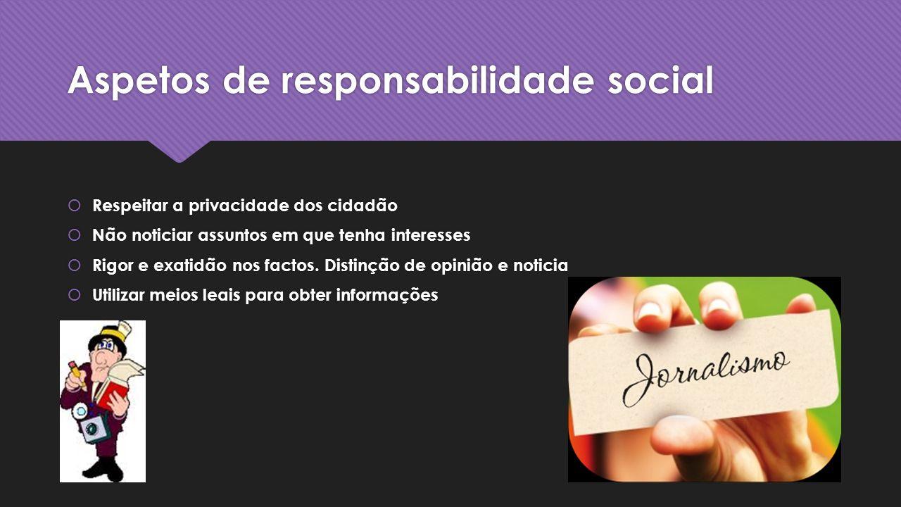 Aspetos de responsabilidade social
