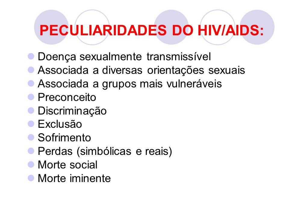 PECULIARIDADES DO HIV/AIDS: