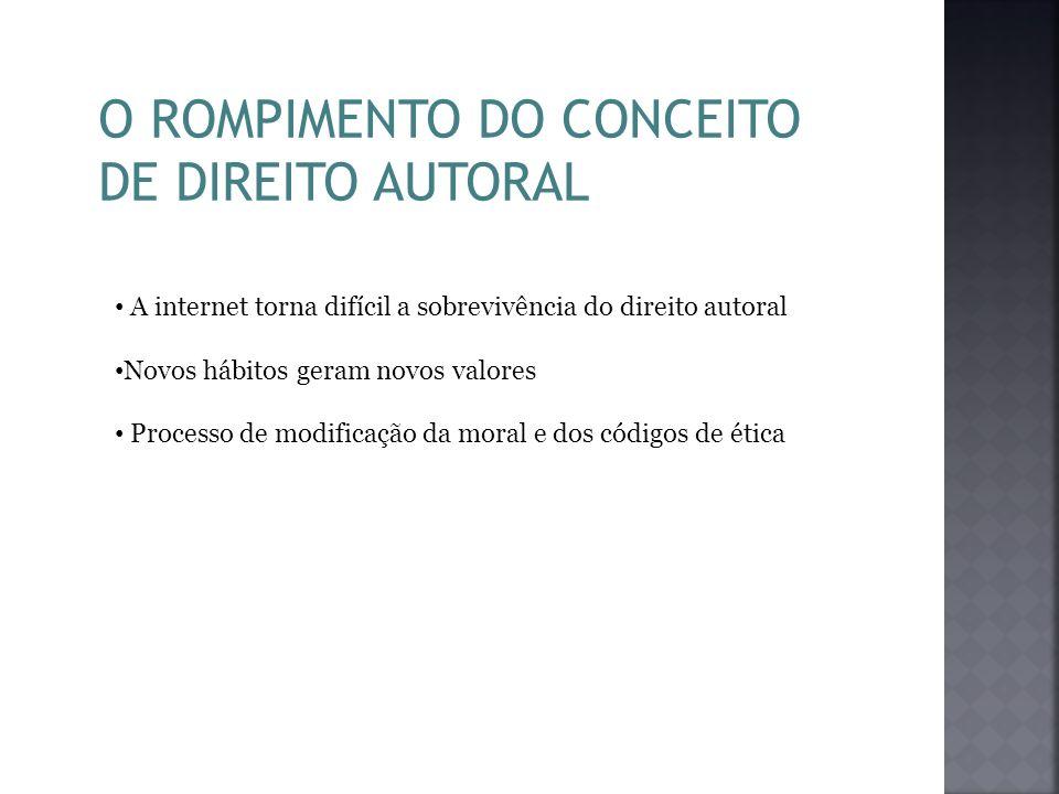 O ROMPIMENTO DO CONCEITO DE DIREITO AUTORAL