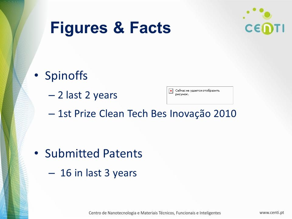 Figures & Facts Spinoffs Submitted Patents 2 last 2 years