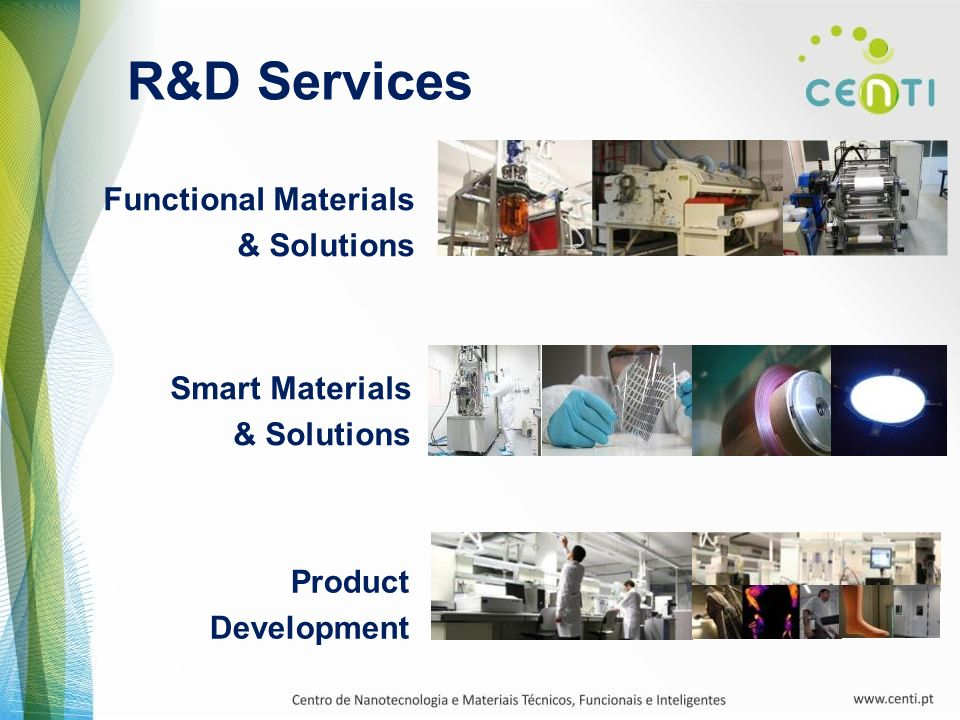 R&D Services Functional Materials & Solutions Smart Materials