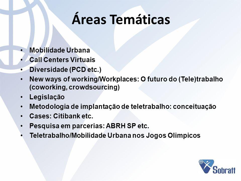 Áreas Temáticas Mobilidade Urbana Call Centers Virtuais