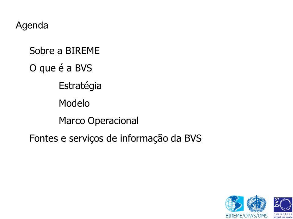 Fontes e serviços de informação da BVS