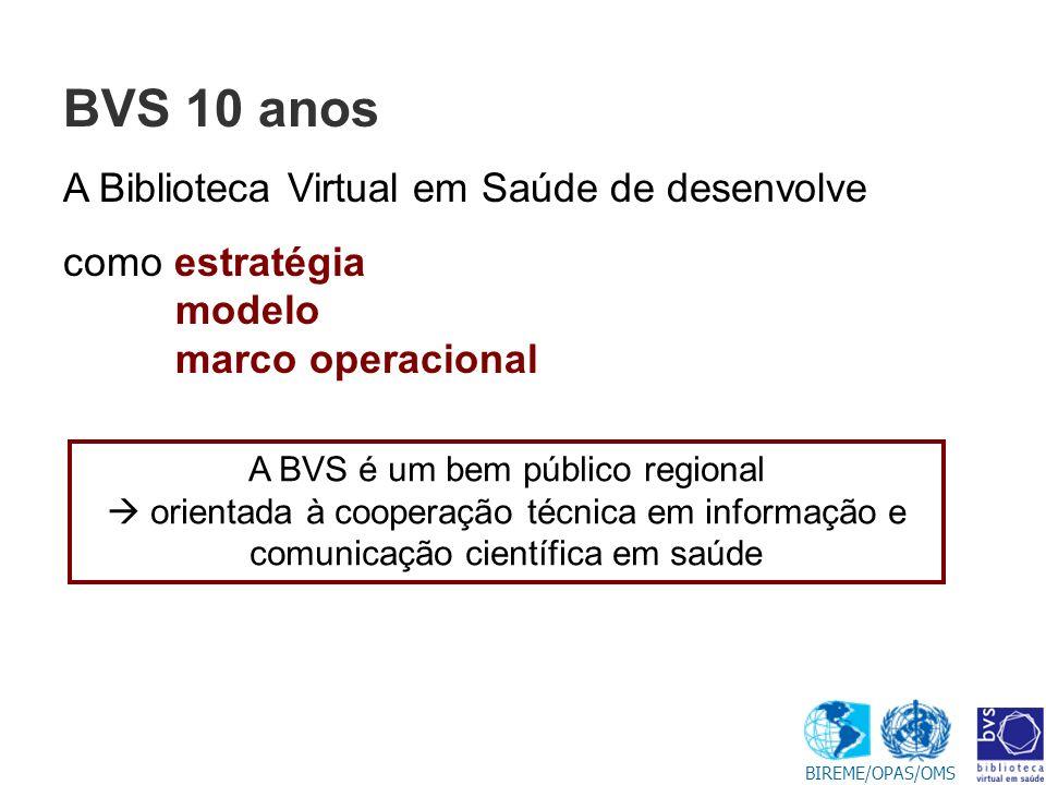 BVS 10 anos A Biblioteca Virtual em Saúde de desenvolve