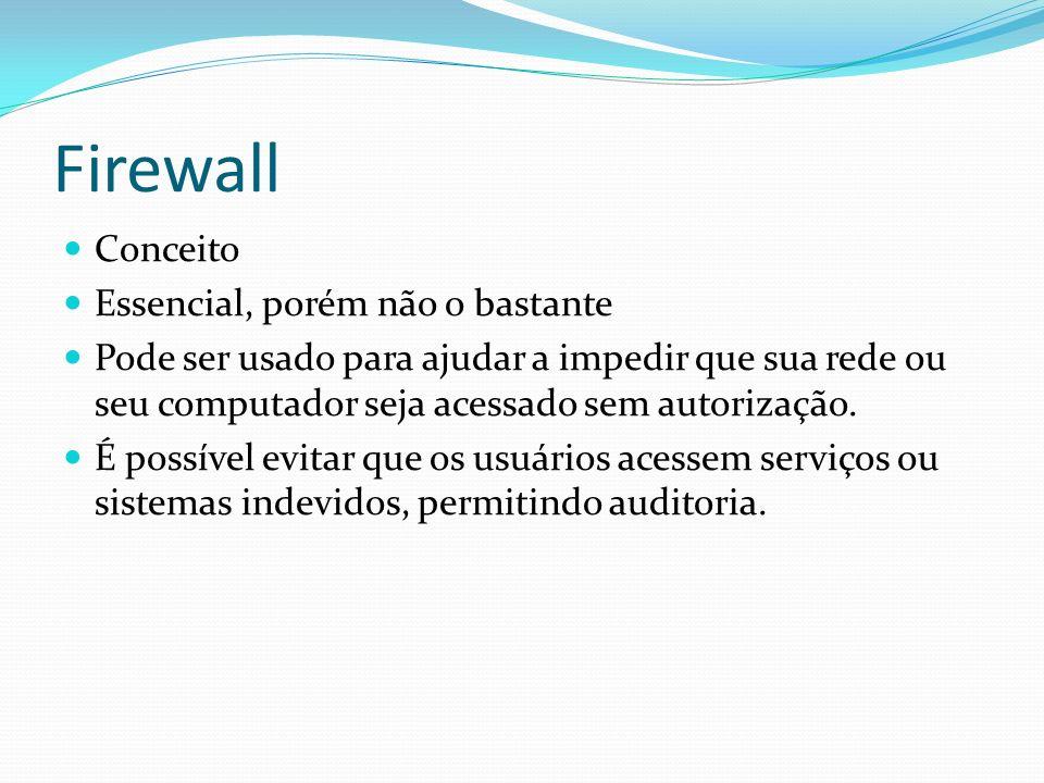 Firewall Conceito Essencial, porém não o bastante