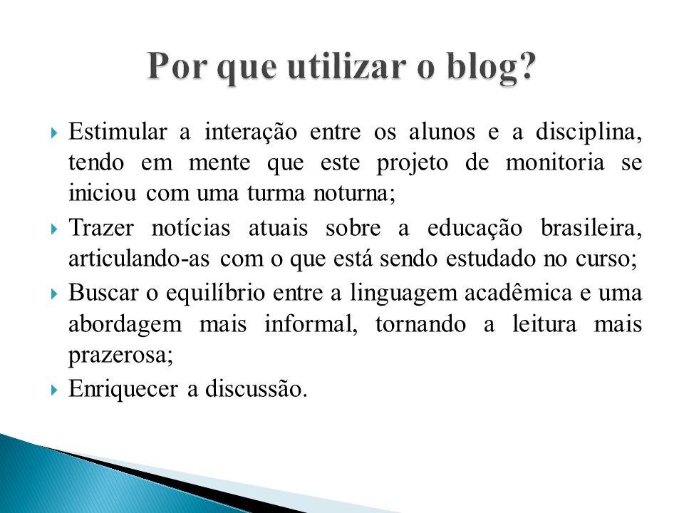 Por que utilizar o blog