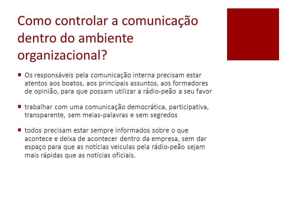 Como controlar a comunicação dentro do ambiente organizacional