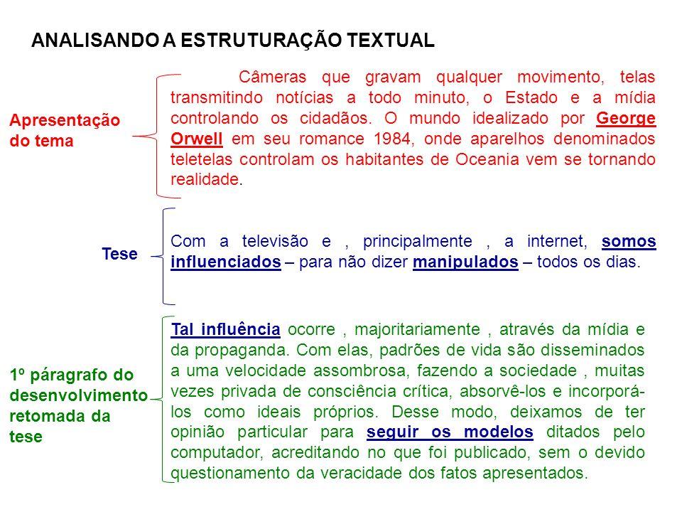 ANALISANDO A ESTRUTURAÇÃO TEXTUAL