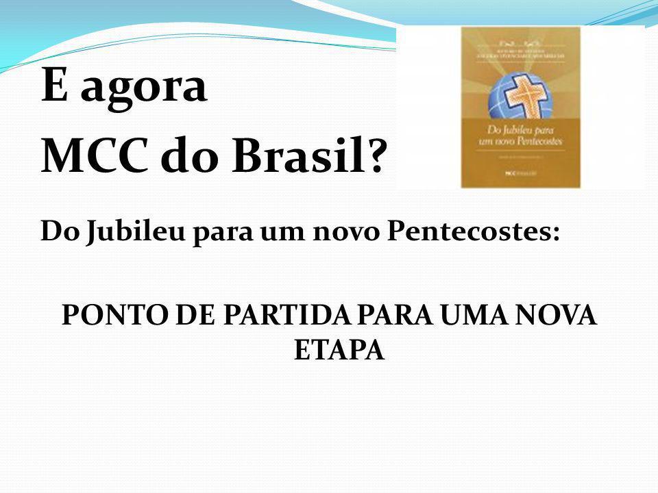 PONTO DE PARTIDA PARA UMA NOVA ETAPA