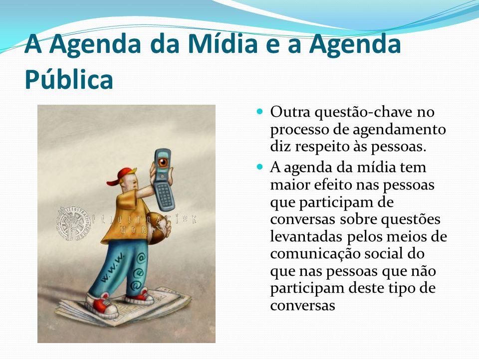 A Agenda da Mídia e a Agenda Pública