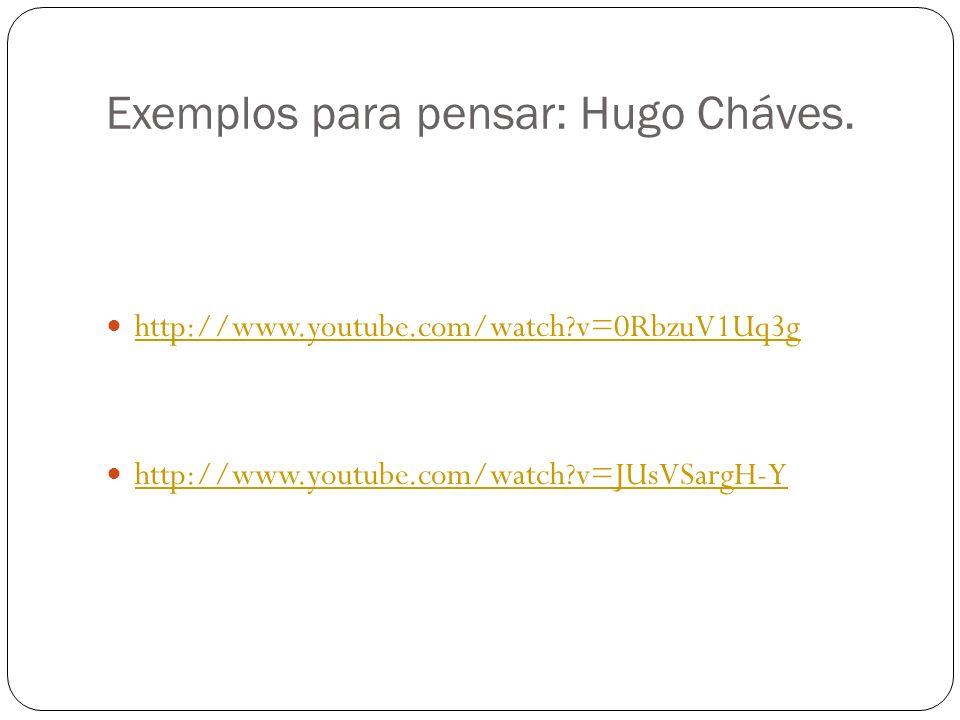Exemplos para pensar: Hugo Cháves.