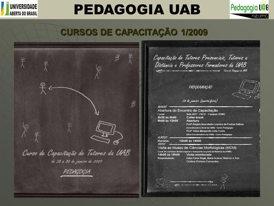 CURSOS DE CAPACITAÇÃO 1/2009