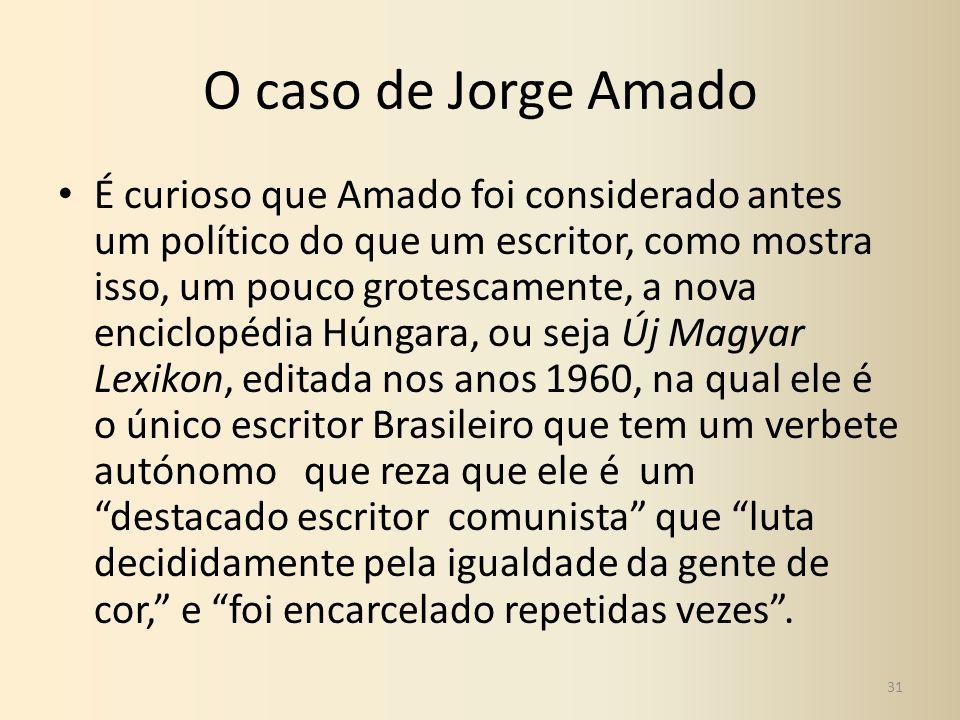 O caso de Jorge Amado