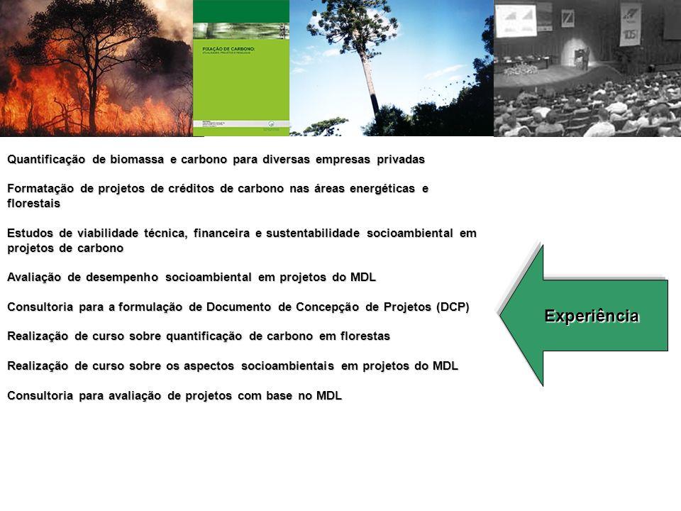 Quantificação de biomassa e carbono para diversas empresas privadas