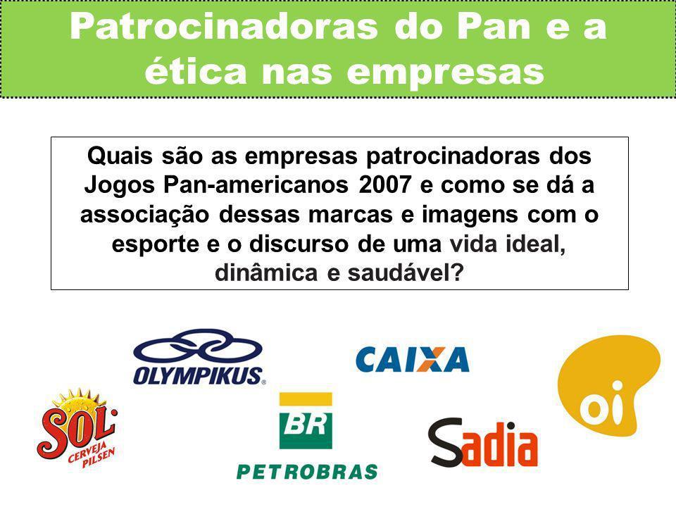 Patrocinadoras do Pan e a