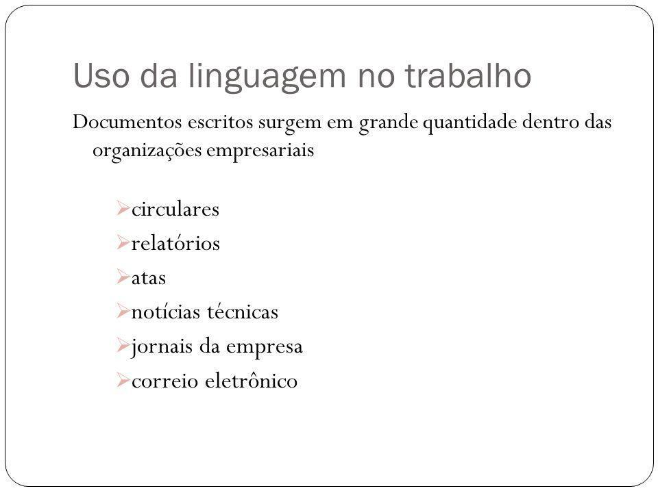 Uso da linguagem no trabalho