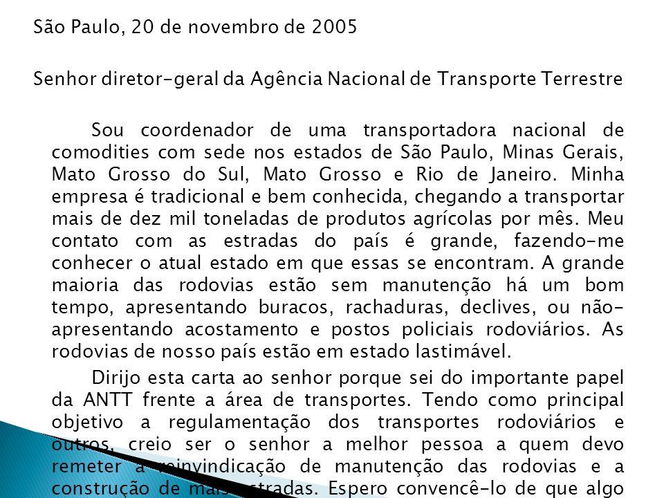 São Paulo, 20 de novembro de 2005