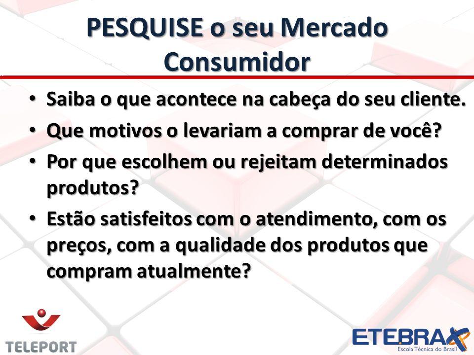 PESQUISE o seu Mercado Consumidor
