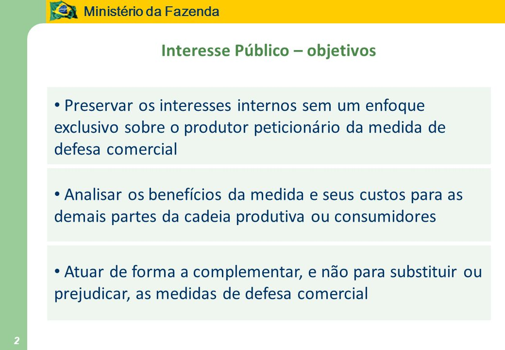 Interesse Público – objetivos