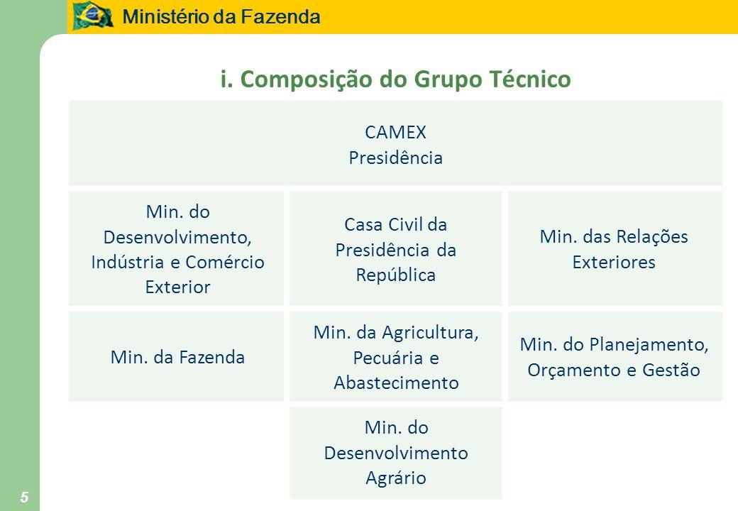 i. Composição do Grupo Técnico